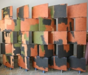 Grand Illusion Decorative Painting-Custom Painted Wenge Screens