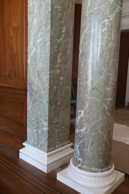 Green Campan Marble Columns From The Studio Of Pierre