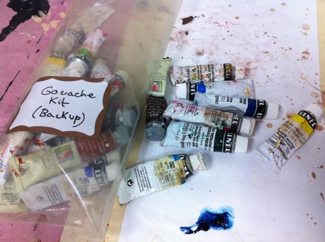 Pierre Finkelstein guache paints for beer glaze
