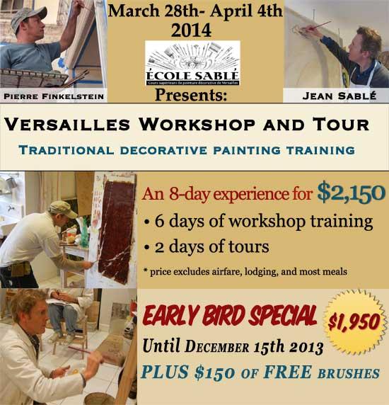 Versailles, France workshop and tour