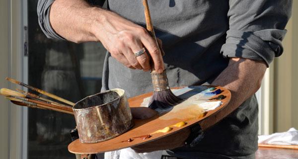 oil marble paintere's palette