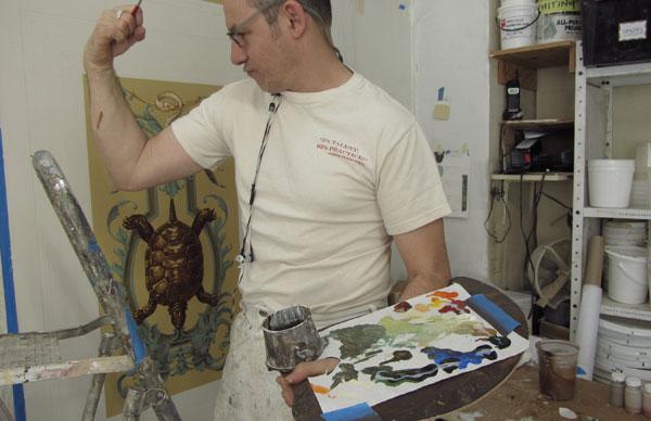 style painter's palette