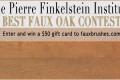 BEST FAUX OAK CONTEST