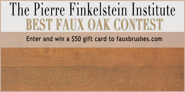 Enter your best faux oak contest and win