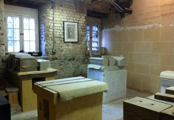 plaster school room