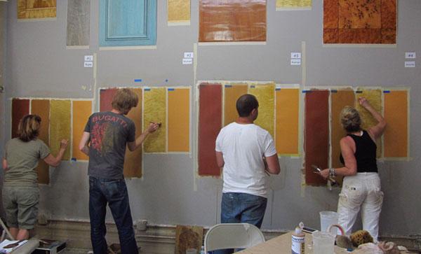 students practice