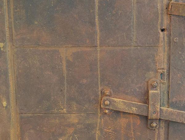 finished door & Faux Rust Patina Door - From the Studio of Pierre Finkelstein