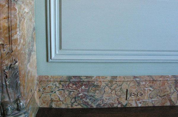 faux marble baseboard