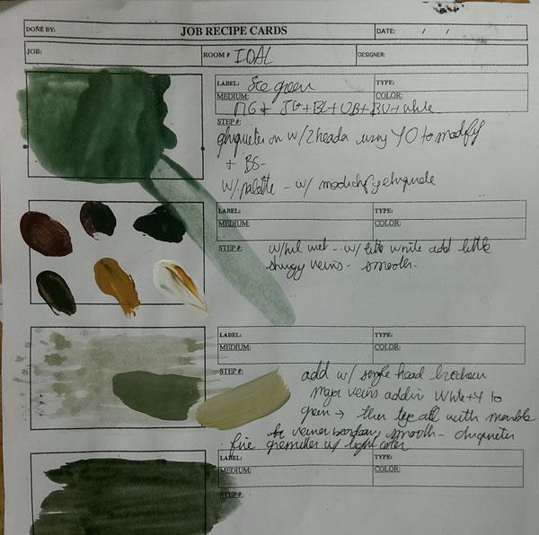 seagreen marble recipe card