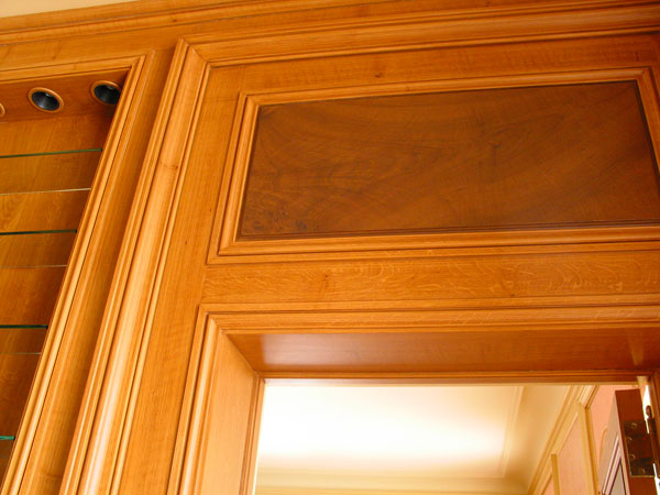 woodgrained panel