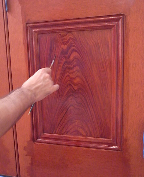 process of woodgraining