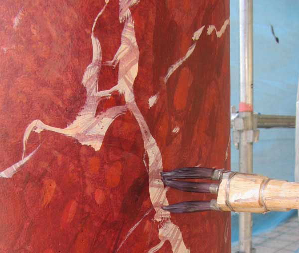 fantasy red marble