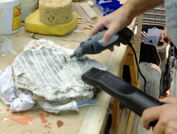broken plaster