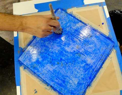 blue transparent glaze-lazuli