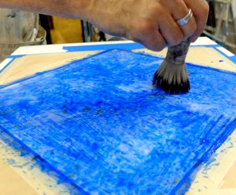 Create texture, stippling-lazuli