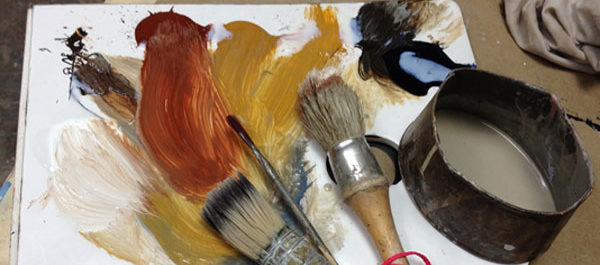 Palette colors-ochre